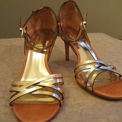 Coach Gold Tan Kamea Sandals 9.5M