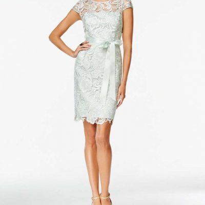 Adrianna Papell Lace Dress Mint Size 18