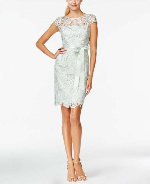 A.P Beaded Lace Sheath Dress
